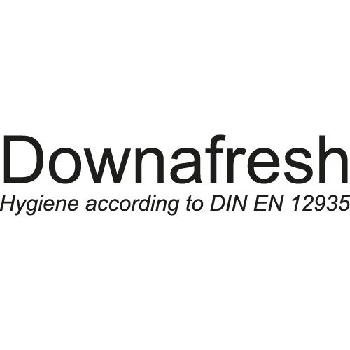 Our down and feather filling material conforms to EN 12935 (feather and down hygiene and cleanliness requirements)