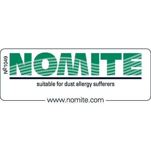 Nomite - The company is member of European Bedfeather and Bedding Industries, and our products are suitable for persons suffering from house dust allergy.